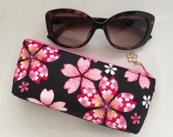 Sakura Eyeglass Case / Zipper Pouch