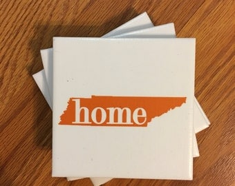 Tennessee Home Ceramic Tile Coasters