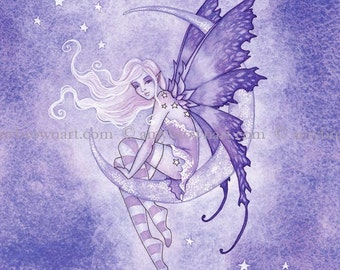 5x7 Moon Fae fairy PRINT by Amy Brown