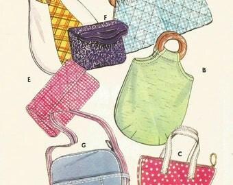Vintage Kwik Sew 611 UNCUT Purses, Tote and Handbags Sewing Pattern