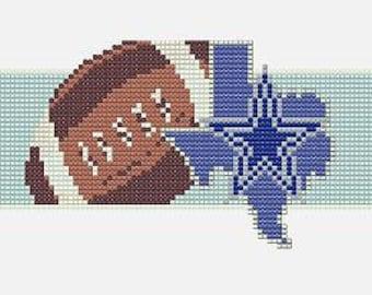 Dallas Cowboy Bead Loom Cuff Pattern