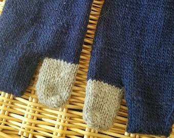 Navy and Gray Tabi Socks - Large