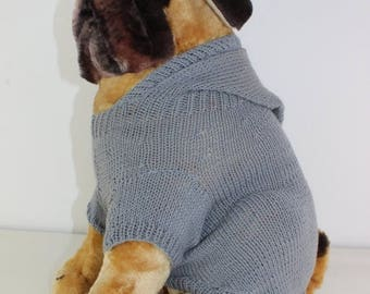 50% OFF SALE madmonkeyknits - Simple Dog Hoodie knitting pattern pdf download - Instant Digital File pdf knitting pattern