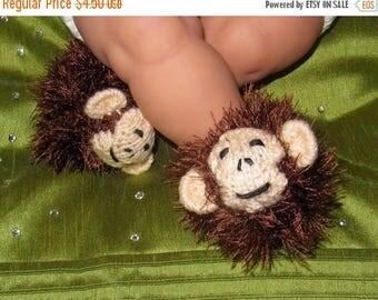 50% OFF SALE Instant Digital File pdf download knitting pattern- Baby Monkey Boots (Booties) knitting pattern pdf download