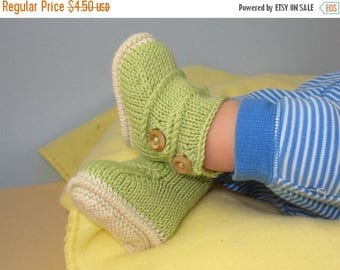 50% OFF SALE Instant Digital File pdf download knitting pattern - Baby 2 Strap Bumper Booties pdf knitting pattern from madmonkeyknits