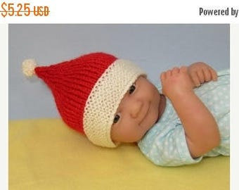 50% OFF SALE Instant Digital File Just For Preemies Premature Baby Santa Beanie and Booties Set PDF Download knitting pattern pdf
