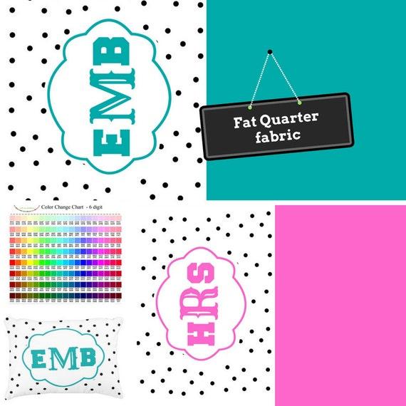 Fat Quarter Home Decor Fabric Preppy Shabby Chic DIY Monogram