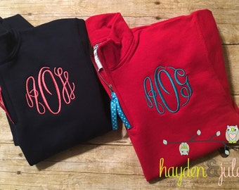 Monogrammed Half-Zip Pullover - Youth, Personalized