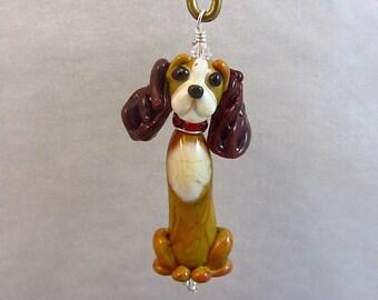 Cocker Spaniel Ornament or Figurine - Lampwork Glass Dog SRA