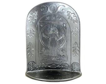 RESERVED TERRA   Goddess Gaia Shrine Handmade Pottery Silver