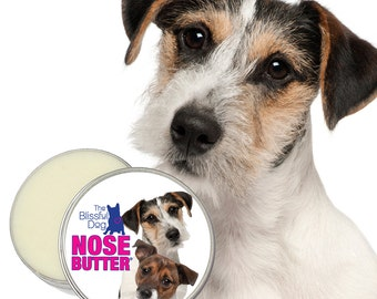 Jack Russell Terrier NOSE BUTTER® Handcrafted Moisturizing Balm for Dry Rough Dog Noses 1 oz, 2 oz or 4 oz Tin Scented or Unscented