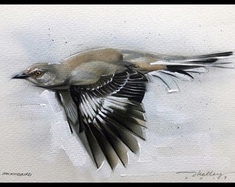 Mockingbird Acrylic Painting Original Art