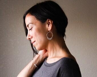 Nova earrings - sterling silver light round ear dangles
