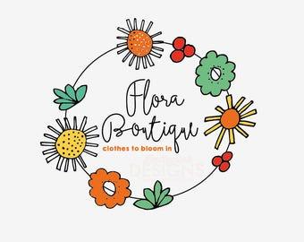 Premade Flora Boutique Logo Design
