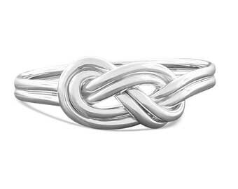 Sterling silver double love knot figure 8 promise ring, great gift for her