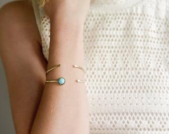 Pod Bangles- Hammered bracelet skinny cuffs turquoise black onyx