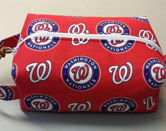 Washington Nationals handmade toiletry kit, shave kit, makeup bag, dopp kit