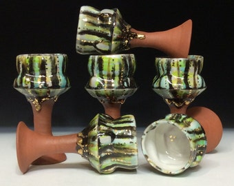 Stemmed whiskey cups set of 6