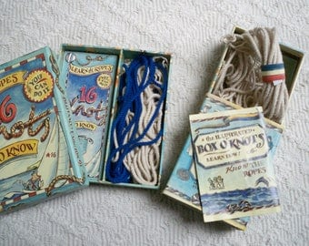 Vintage Knot Kits Two Boxed Kits Learn How to Make Knots