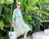 Caftan, Dress, Midi, S-2X, Bali Batik, Rayon
