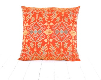 IKAT Pillow, 20 x 20, Indonesia, Bali, Handwoven, Cotton