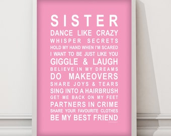 Sisters - Typography poster for sisters