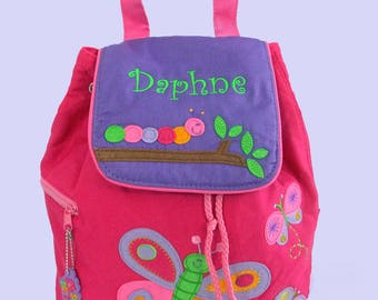 Personalized Child's Stephen Joseph Quilted Toddler BUTTERFLY  Backpack  Purple-Monogramming Is Included