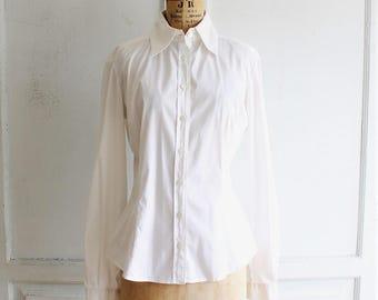 90s vintage DOLCE & GABBANA white shirt small