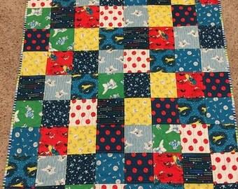 Goodnight moon quilt, baby quilt, crib/stroller quilt, baby boy, toddler quilt, baby gift, quilt, goodnight moon fabric, handmade quilt