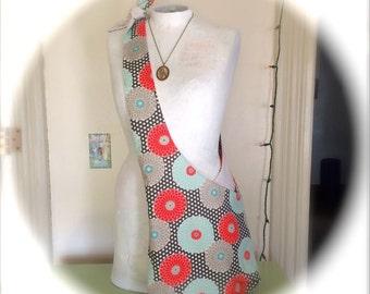 Colorful Mums Flowered Boho Hobo Bag Washable