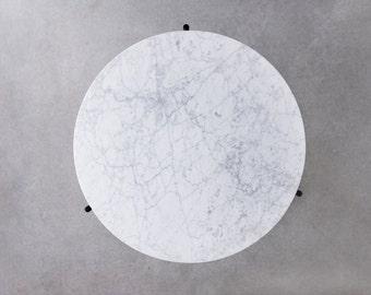 Granada Carrara Marble Side Table