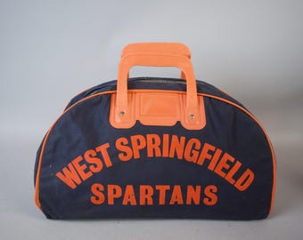 Vintage 1960s West Springfield Spartans High School Gym Bag
