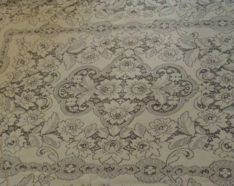 Lovely Lace Vintage Tablecloth
