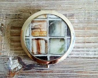 Winter Frost Compact Mirror