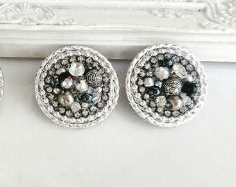 Silver clip on earrings-very quality earrings-handmade and unique