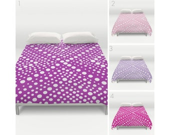 Purple Duvet Cover - Pink duvet cover - Lavender duvet cover - queen duvet cover - Twin XL duvet cover - full duvet cover - Fuchsia Magenta