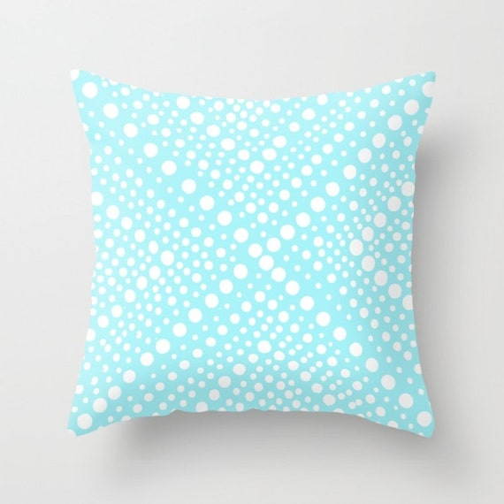 OUTDOOR Throw Pillow . Bahama Blue Patio Cushion . Modern White aqua Geometric X Dot . Outdoor Pillow 16 18 20 inch . Lumbar Outdoor Pillow
