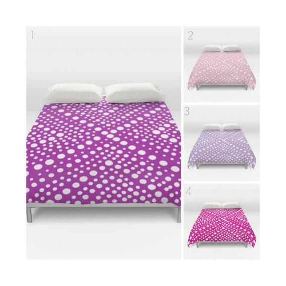Purple Duvet Cover . Pink duvet cover . Lavender duvet cover . queen duvet cover . Twin XL duvet cover . Fuchsia Magenta bedding set