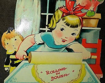 1938 Mechanical Valentine Card- Baking