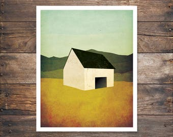 Barn Study Print -  Illustration by Ryan Fowler FRAME NOT INCLUDED