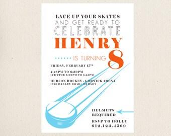 Hockey Birthday Party Invite