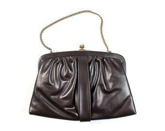 Small Vintage Dark Brown Purse / Handbag