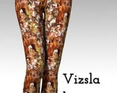 vizsla and Autumn Leaves Leggings