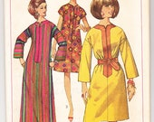 Vintage 1967 Simplicity 7018 UNCUT Sewing Pattern Misses' One-Piece Dress in Two Lengths Size 16 Bust 36