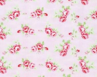 Pink Rosebuds  PWTW131-PINK Cotton Fabric by Tanya Whelan Free Spirit Rambling Rose