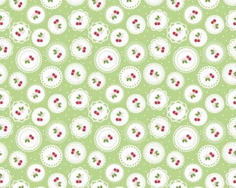 Sew cherry 2 Doily Green by Lori Holt for Riley Blake C5802-Green