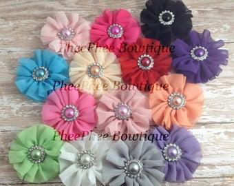 30% OFF SPRING SALE Set of 2 Flower Hair Clips or Headbands, Upic, Twirls, Infant Headband, Baby Headband, Newborn Headband, Flower Girl, Ba