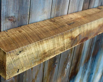"48"" Long x 10"" Deep x 4"" Tall - Barn Wood - Navajo Barn Wood - 100 Year Old Wood - Rustic Old Wood - Limited Edition - Floating Wall Shelf"
