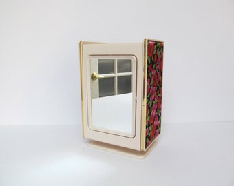 Vintage Secret Jewelry Box with Easel Mirror