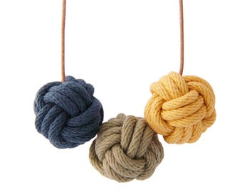 Istanbul nautical knot necklace